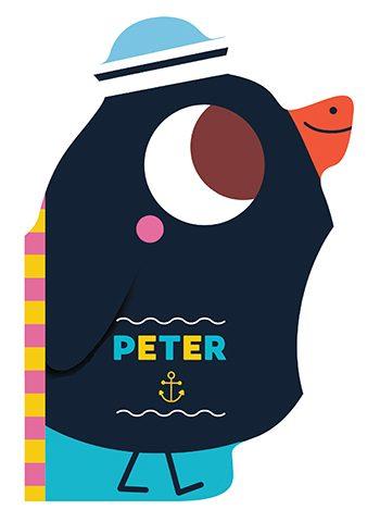 Peter the Penguin Bath Friends Auzou