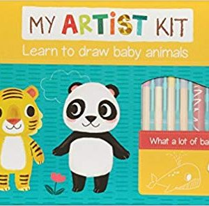 Learn to Draw Baby Animals Kit Auzou