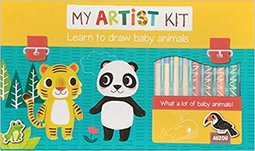 Learn to Draw Baby Animals Kit Auzou